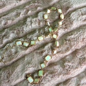 Faux opal necklace